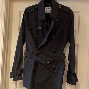 Old Navy Black Lightweight Trench Coat